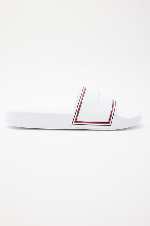 Tommy Jeans TH Essentials Pool Slide White