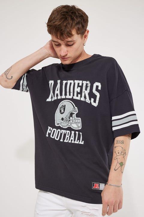 Majestic Athletic NFL Stripe Sleeve OS Tee Faded Black