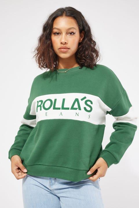 Rolla's Split Logo Sweater Pine