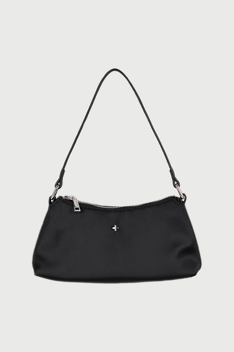 Peta And Jain Kendra Black Satin/Silver