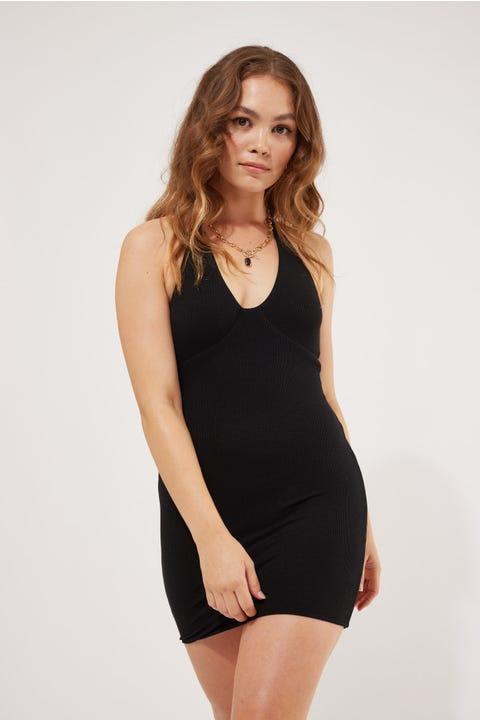 Luvalot Clothing Kimmy Mini Dress Black