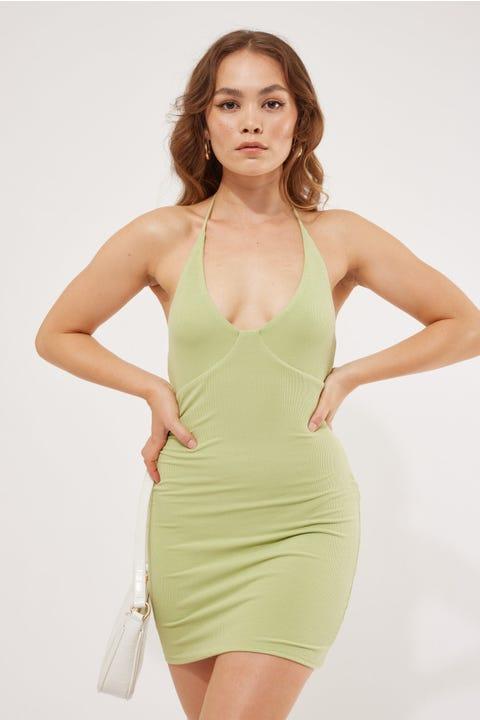 Luvalot Clothing Kimmy Mini Dress Green