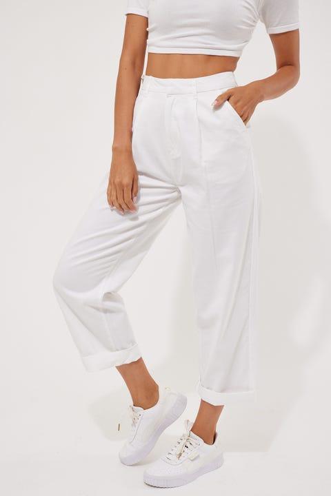 Brixton Victory Trouser Pant White