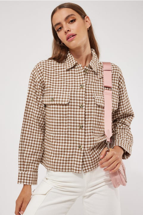 Brixton Bowery Lightweight Flannel Toffee