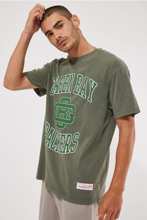 Mitchell & Ness NFL Vint Crest Logo Tee Thyme