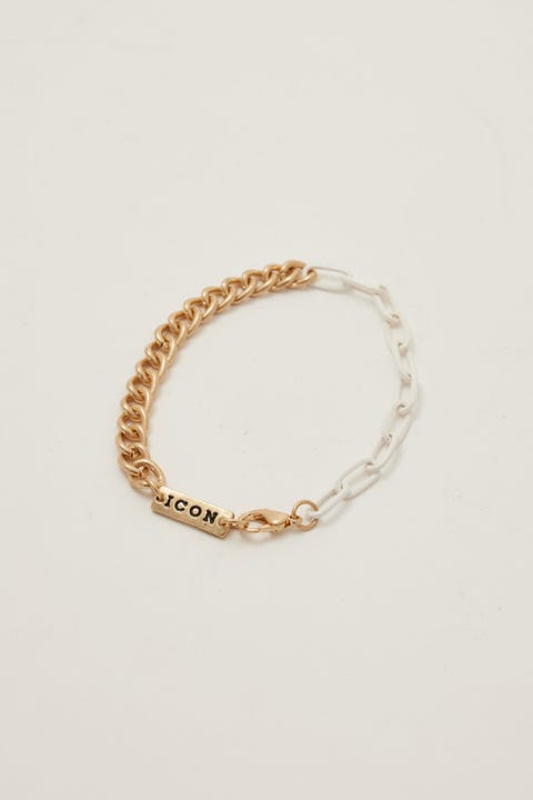 Icon Brand Mixed Up Chain Bracelet Gold/Silver