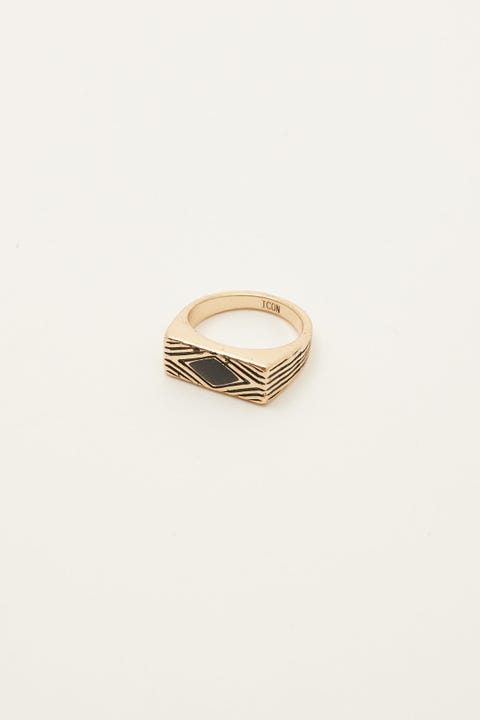 Icon Brand Deco Nuance Enamel Ring Gold