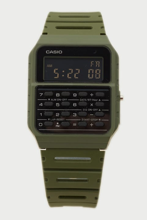 Casio CA53WF-3B Vintage Calculator Khaki