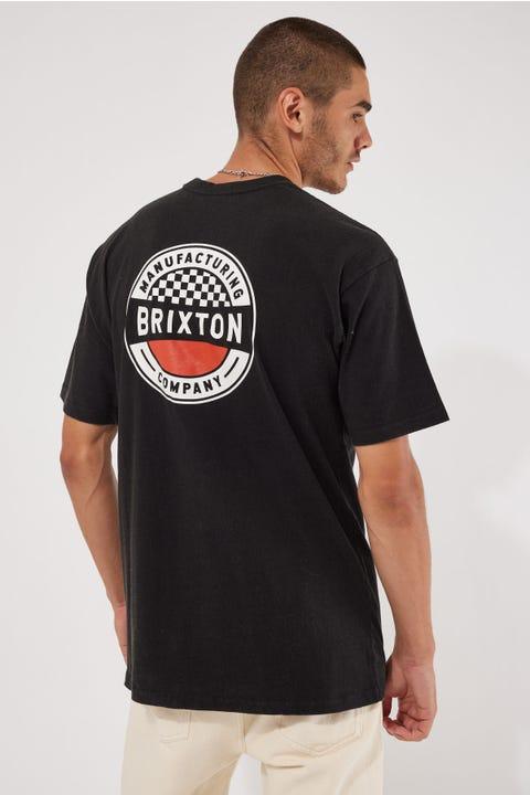 Brixton Terminal Tee Worn Wash Black