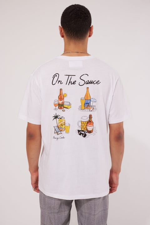 Barney Cools On The Sauce Tee White