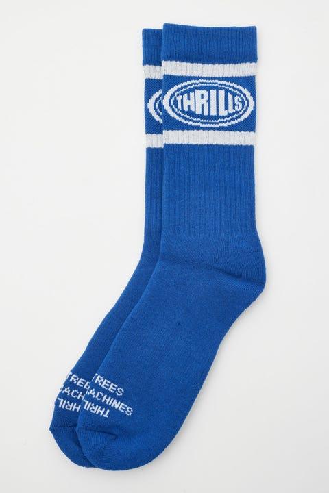 Thrills Warped Sock Royal Blue