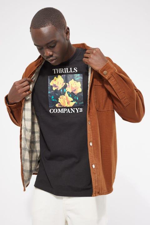 Thrills Regiment Overshirt Tobacco