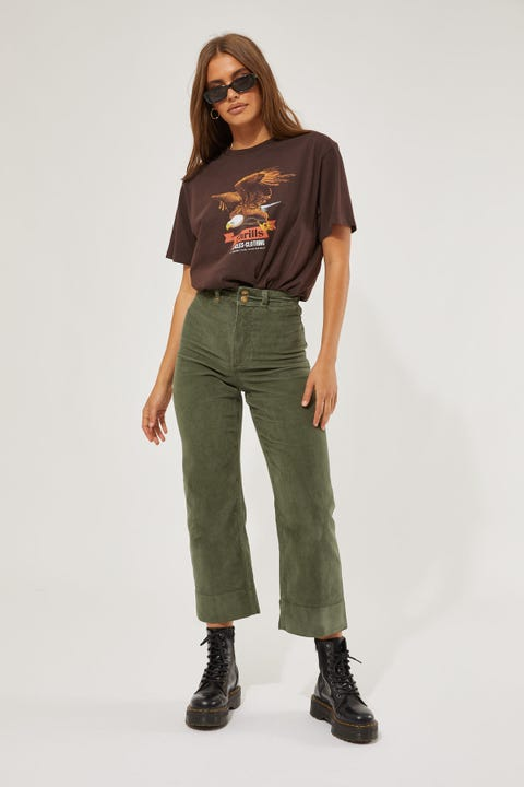 Thrills Belle Cord Pant Lume Green