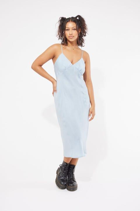 Thrills Chelsea Slip Dress Blue Steel