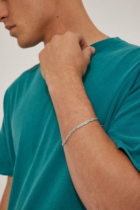 Common Need Spiga Chain Bracelet Brushed Silver