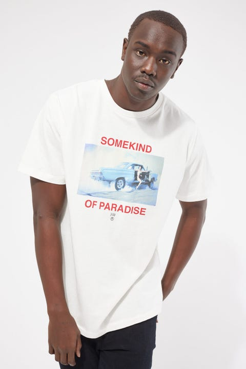 Thrills Somekind Of Paradise Merch Fit Tee Dirty White