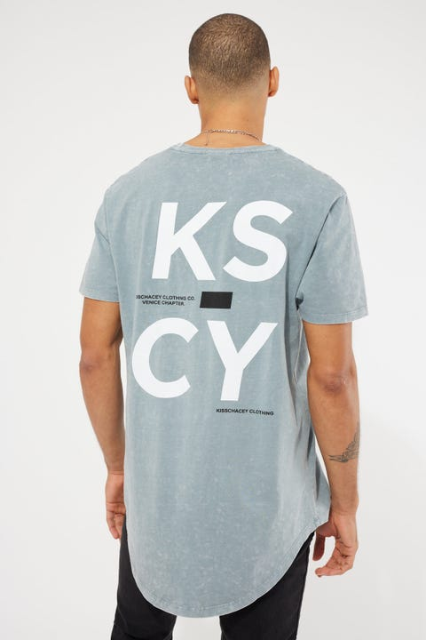 Kiss Chacey Unfaithful Dual Curved Tee Acid Quarry
