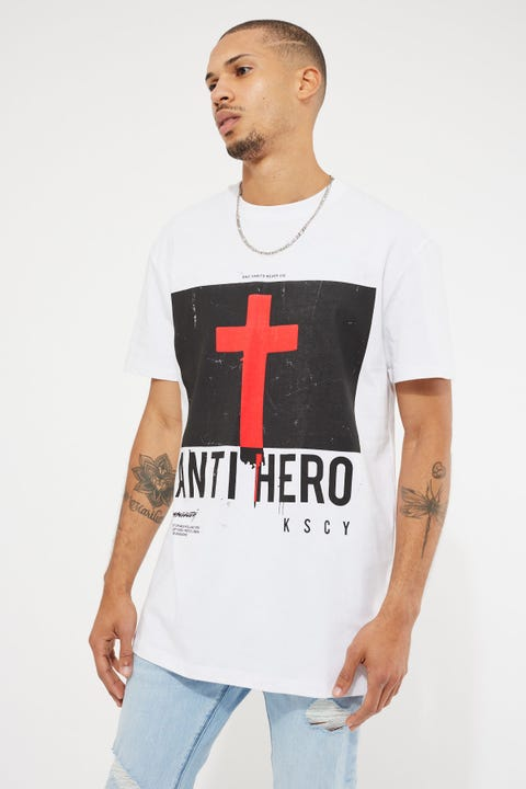 Kiss Chacey Anti Hero Relaxed Tee White