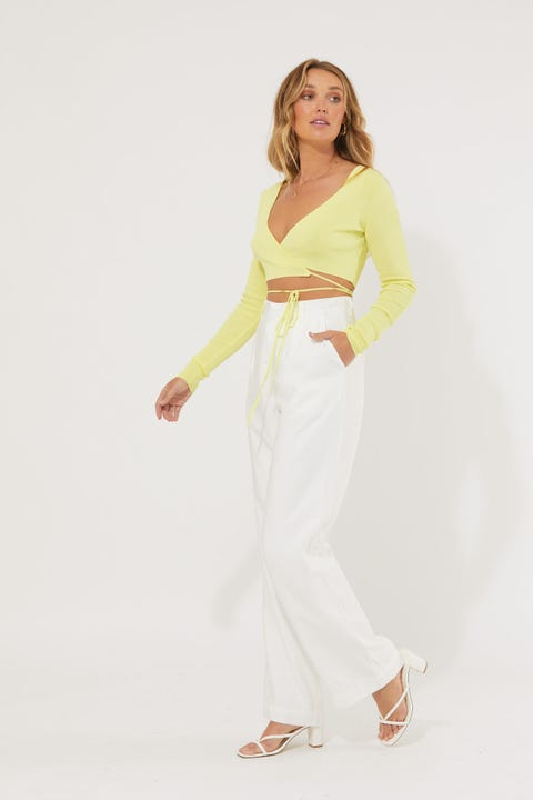 Lioness Cougar Wrap Top Lime