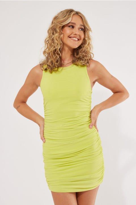 Lioness Hideout Mini Dress Lime