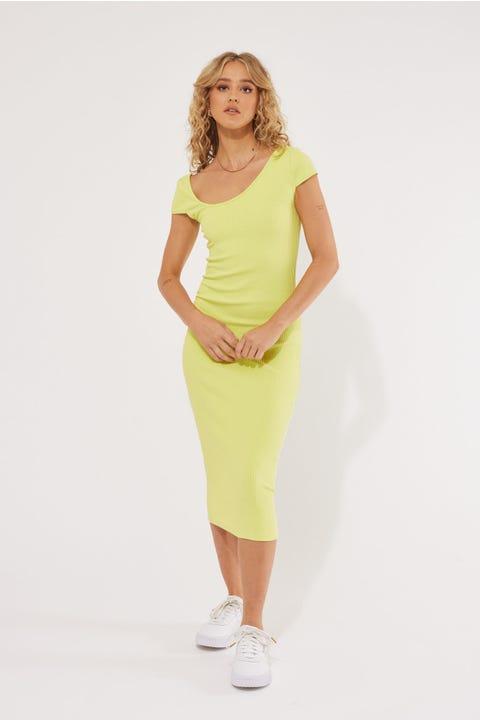 Lioness Captivate Midi Dress Lime