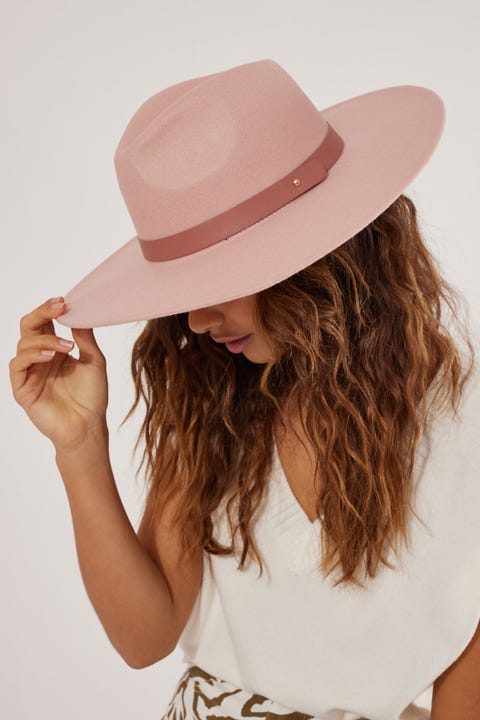 Token Arizona Felt Hat Dusty Rose