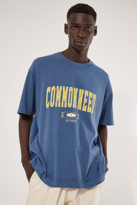 Common Need Class Boxy Tee Washed Navy