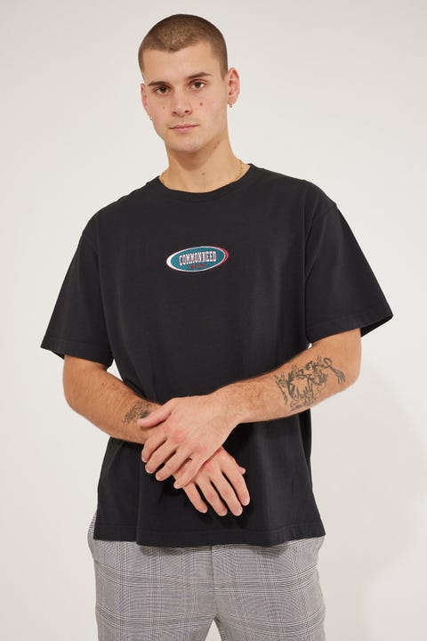 Common Need Competition Boxy Tee Washed Black