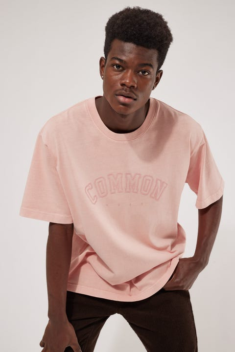 Common Need Archie Boxy Tee Washed Rose