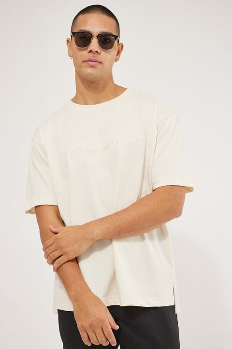 Common Need Script Tee Unbleached Cotton