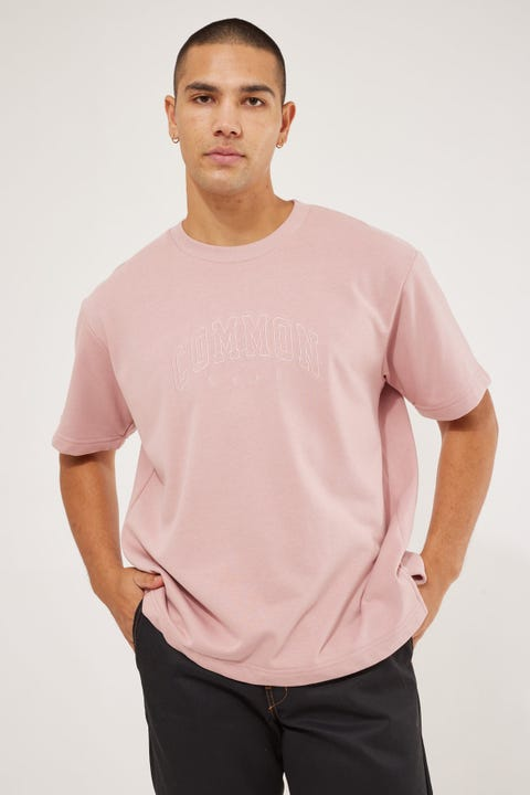 Common Need Recognize Loopback Boxy Tee Dusty Rose