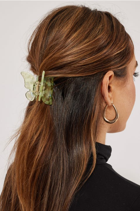 Token Butterfly Hair Claw Green