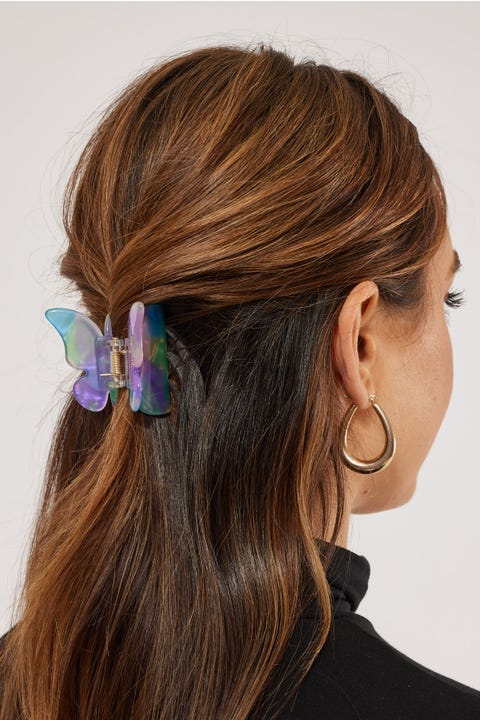 Token Butterfly Hair Claw Iridescent Blue