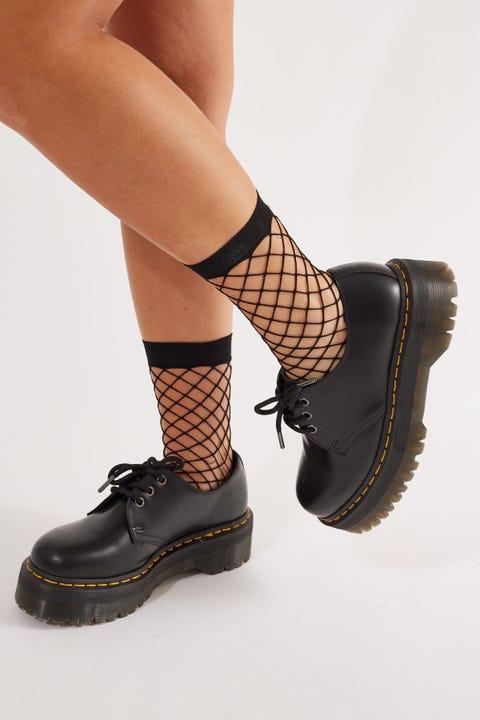 Token Fishnet Socks Black
