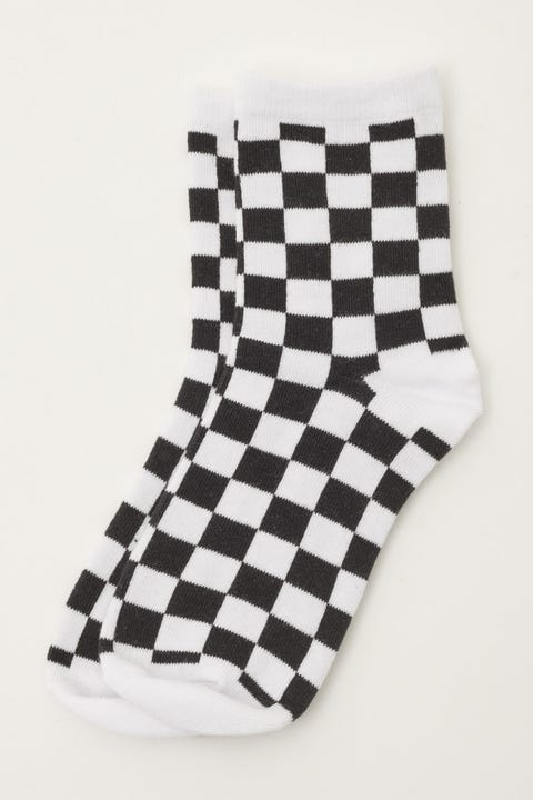 Token Checkerboard Sock Black/White Check