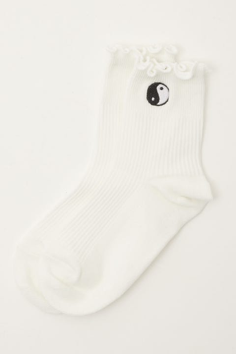 Token Yin Yang Dion Sock White