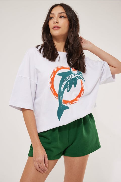 Mitchell & Ness NFL Dolphins Legends N&N Tee White