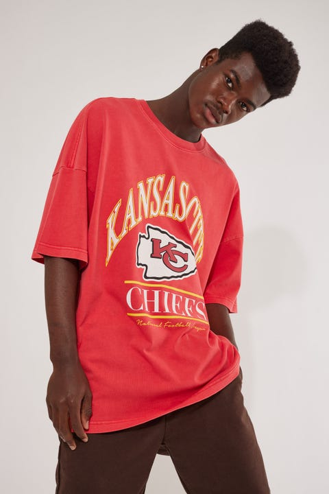 Majestic Athletic Vintage NFL Chiefs Arch OS Tee Mars Red