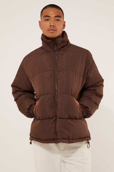 Common Need Antarctica Puffer Jacket Chocolate Brown