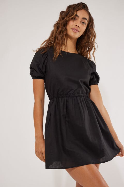 Perfect Stranger Saskia Mini Dress Black