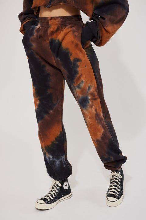 By.dyln Fitzapatrick Tracksuit Pants Choc Tie Dye