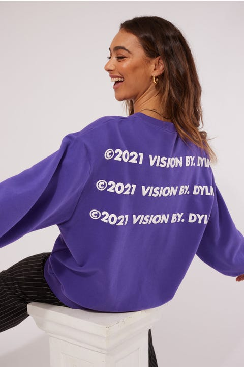 By.dyln Vision Sweater Purple