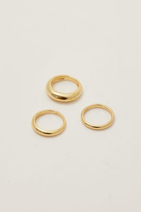 Perfect Stranger Isla Ring Set 18K Gold Plated