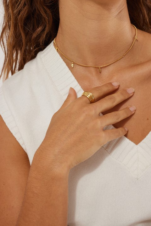 Perfect Stranger Mia Ring 18K Gold Plated