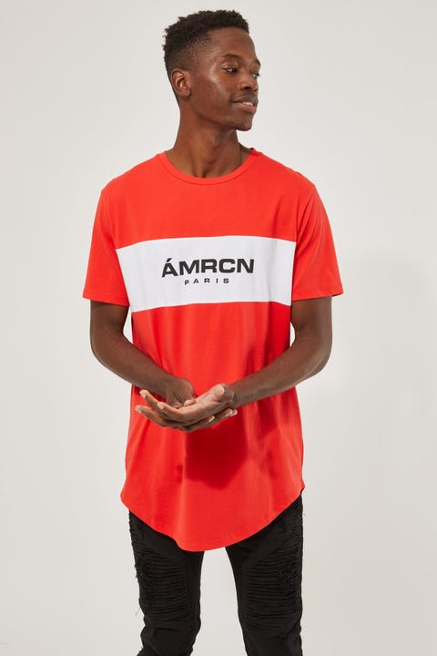 Liberal Dual Curved Tee Red