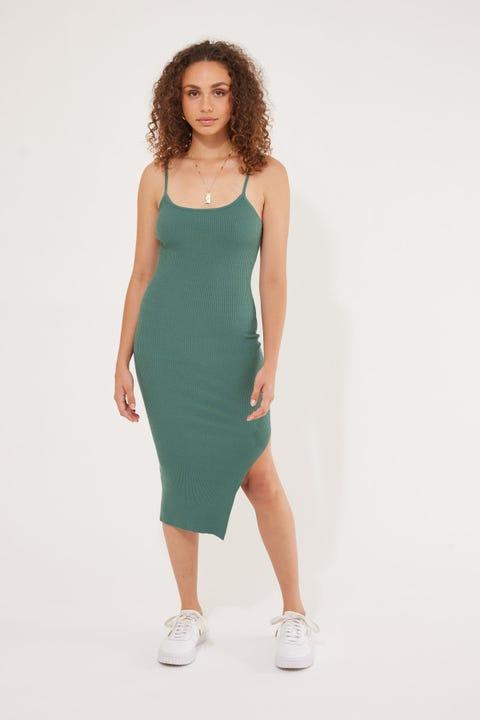 Perfect Stranger Los Cabos Knit Midi Dress Sage