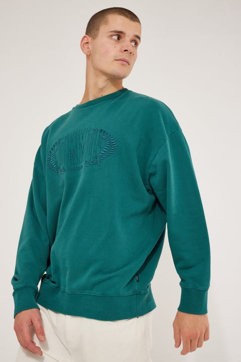 Common Need Creed Boxy Crew Washed Teal