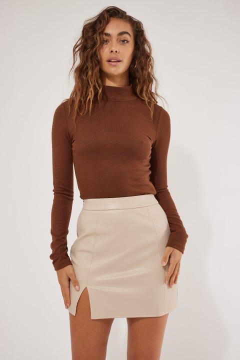 Luck & Trouble Hanna Mini Skirt Cream