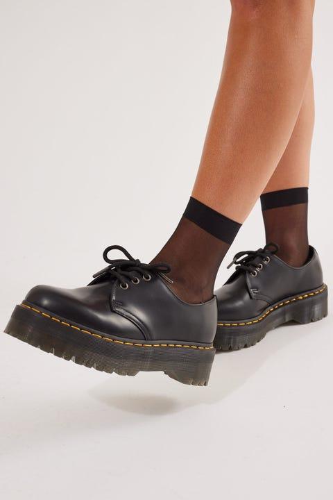 Token Sheer Mesh Sock Black