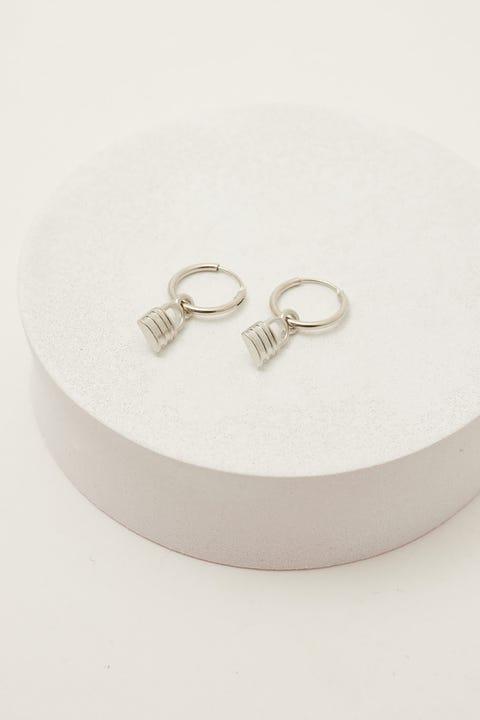 Neovision Padlock Earring Silver